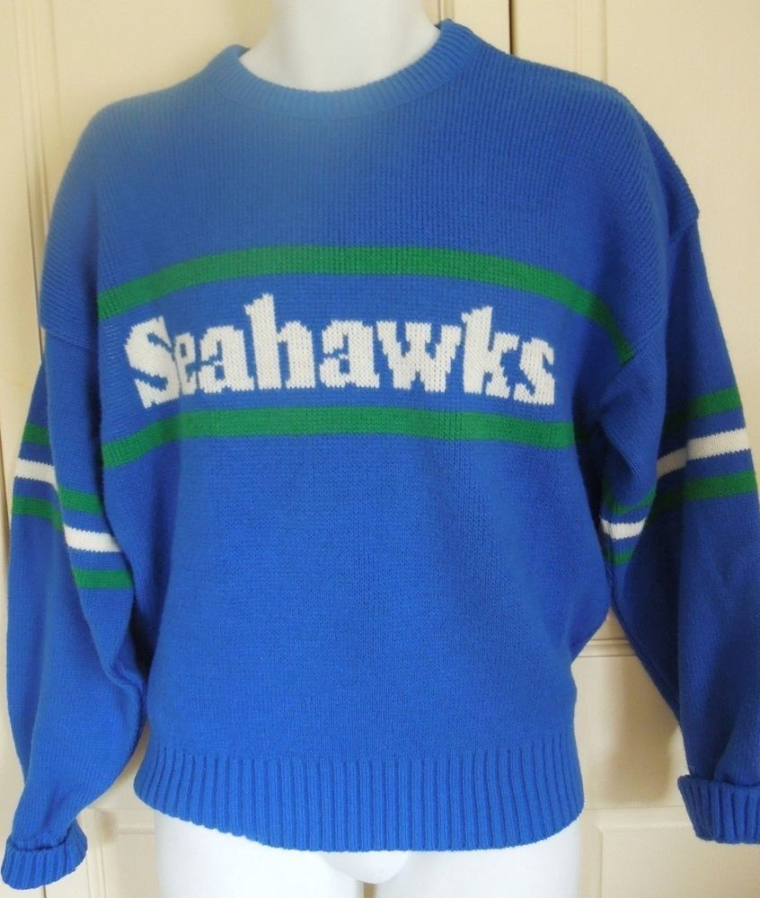 Seattle Seahawks Sweater Vintage Cliff Engle 80' Nfl