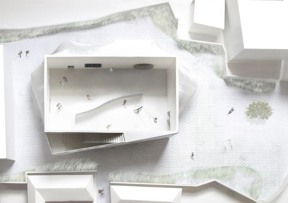 Solid Objectives – Idenburg Liu, Kukje Gallery, 2009/2011. Vista assonometrica/axonometric view. Courtesy: SO-IL.