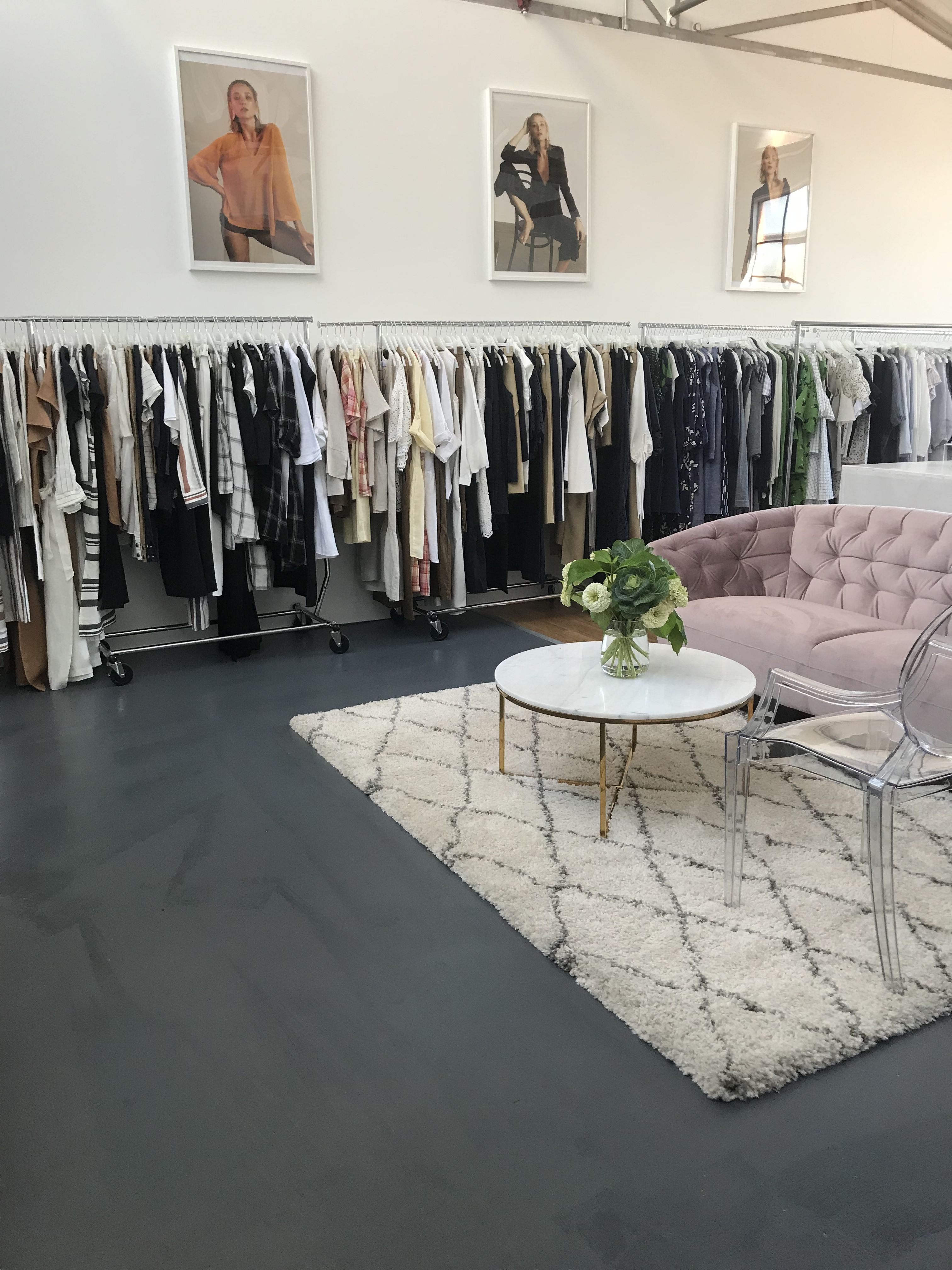 New Collingwood Showroom Fashion Agency Wardrobe Australian