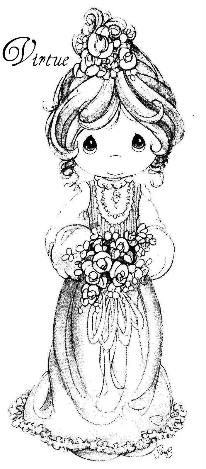 full pageprecious moments coloring pages - photo#35