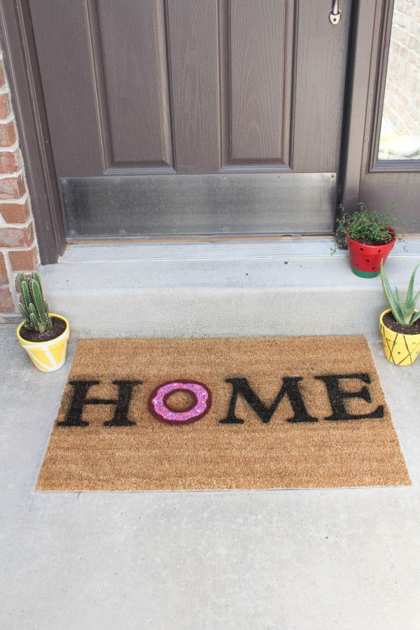 Felpudo diy home hogar casa rosquilla felpudos - Felpudo entrada casa ...