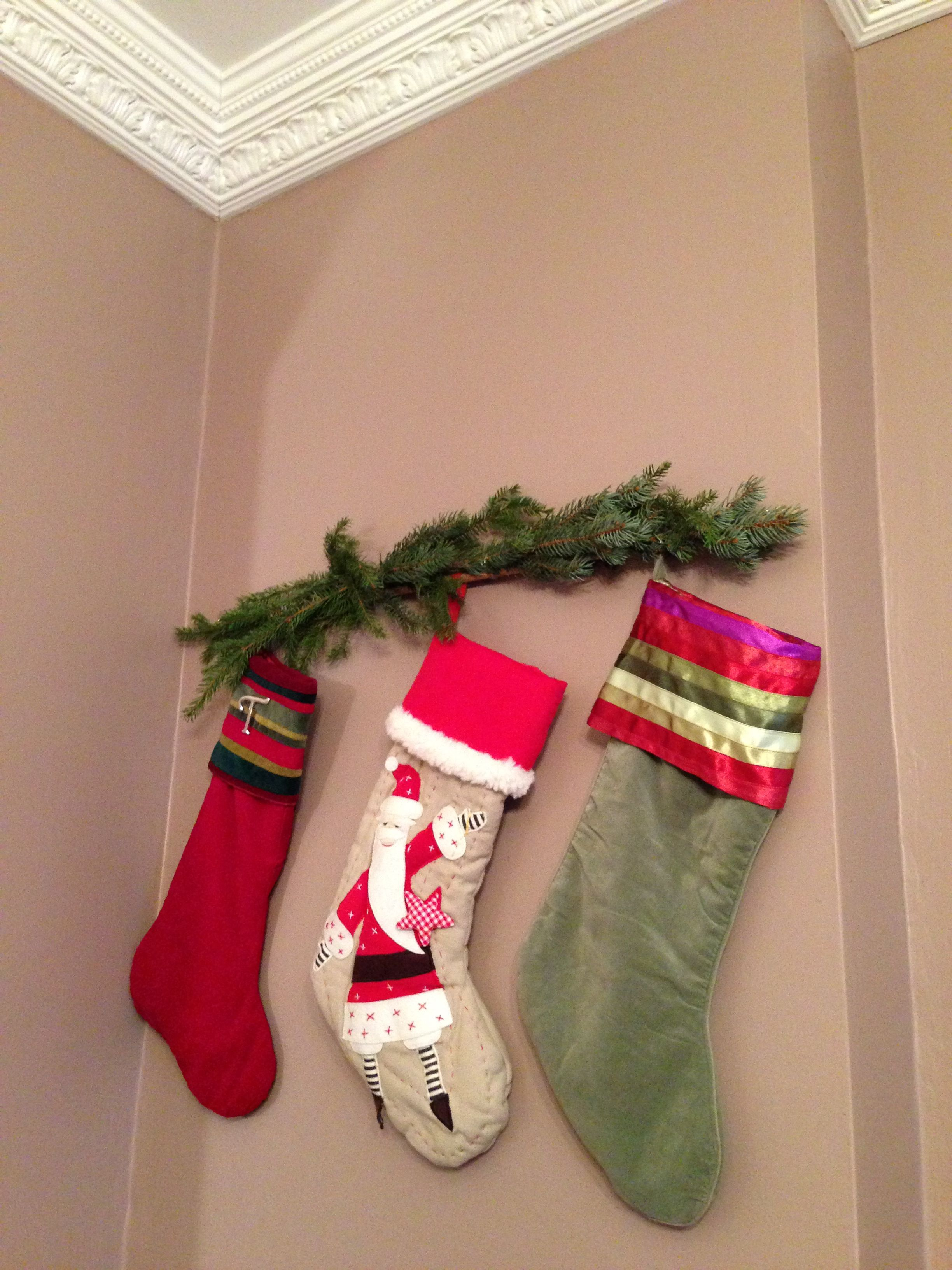 Hanging stockings without a mantle holiday ideas