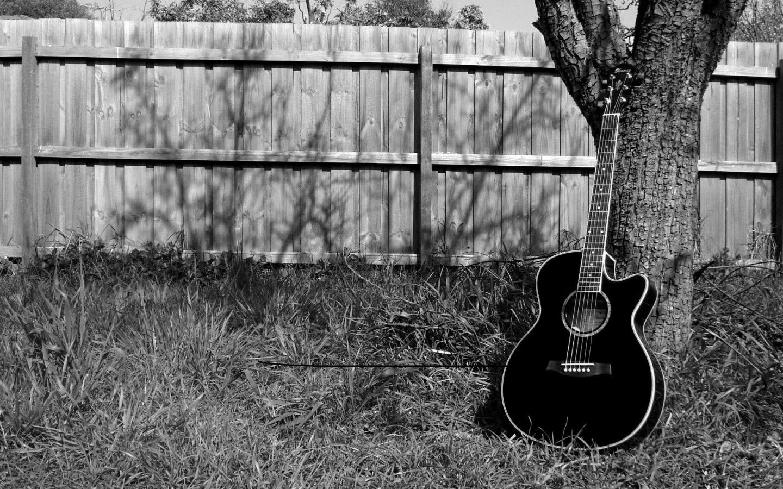 Acoustic Black guitar wallpaper pictures