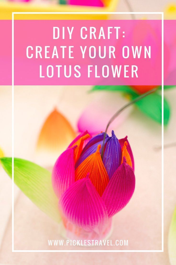 Making South Korean Lotus Flowers Korean Crafts Flower Crafts And