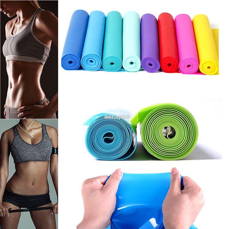 9d614eda9e Resistance Elastic Band Exercise Yoga Belt Rubber Fitness Training Stretch  Sport