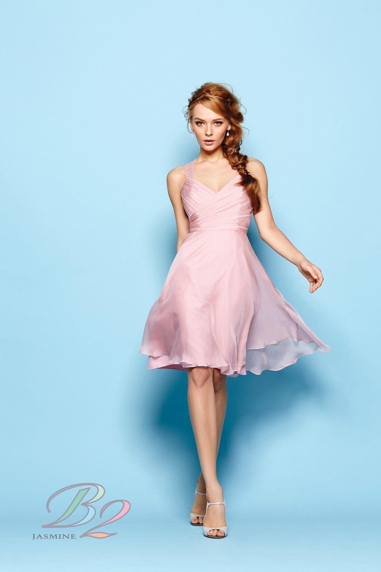B2 by Jasmine B163007 Short Bridesmaid Dress 43f181f41