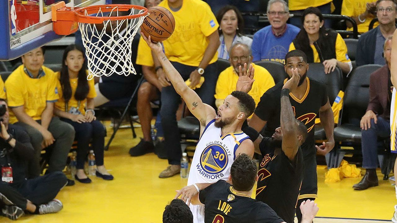 Dubs' Dynamic Duo breezes to 132-113 victory as Warriors  Takes 2-0 Series Lead in Finals OAKLAND, California Sunday June 4th -  #StephenCurry scored 33, 10 rebounds and 11 assists to record a triple-double in the game while #KevinDurant became the fourth player in NBA Finals history to register at least 30 points and 5 blocks in a game. #KlayThompson added 22 points and 7 rebounds, while #ShaunLivingston and #IanClark each notched 10 points off the bench.