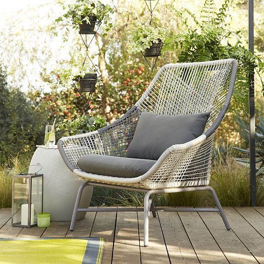 Huron Large Lounge Chair Gray Seal Large Lounge Chair Outdoor Lounge Chair Cushions Lounge Chair Cushions