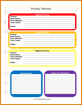 Priorities List Template from i.pinimg.com