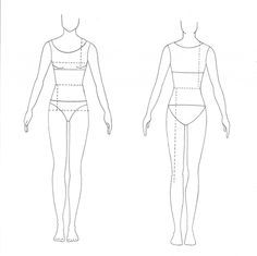 Beautiful Blank Fashion Design Templates Sketch Coloring Page