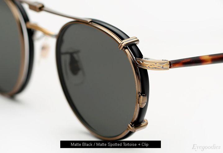 8a892782da9 Garrett Leight Wilson Eyeglasses with Clip-On Lenses - Matte Black ...