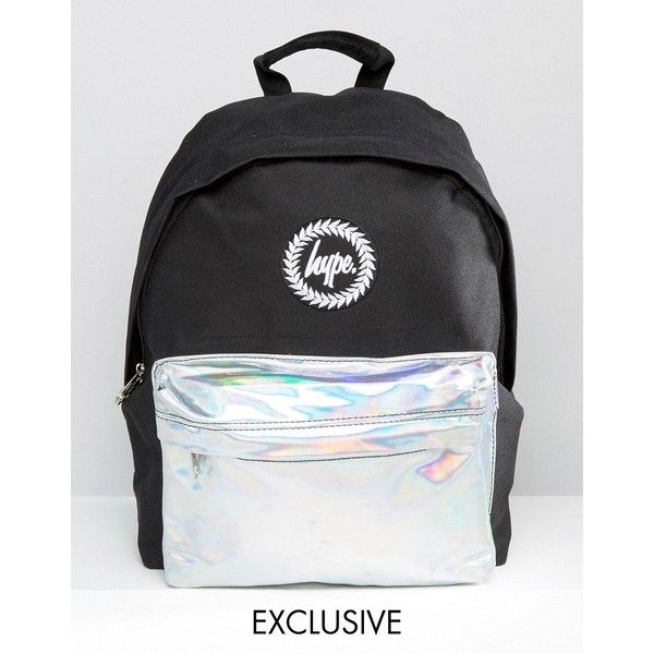 black holographic hype bag