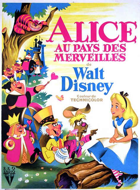 Vintage Disney Alice in Wonderland: French Movie Poster ...