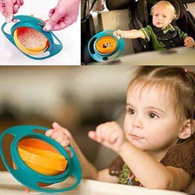 Vale® Baby-Kind-Gyro Bowl Geschirr Non Spill Universelle Non Spill Snack Bowl360 Drehen Technologie