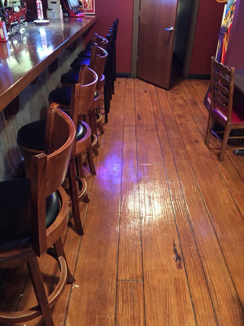 Wood concrete floor in Ohio Restaurant Concrete wood