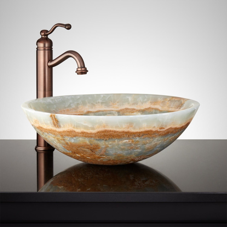 Tacana Blue Onyx Round Vessel Sink
