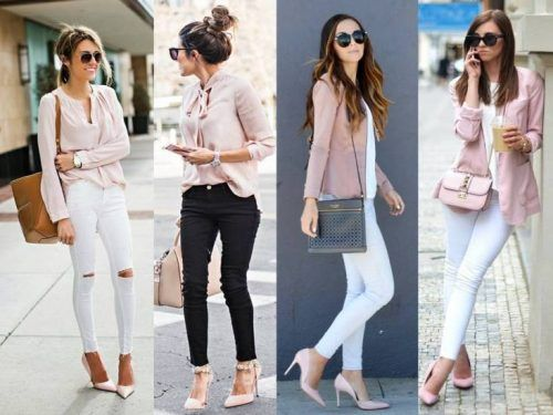 966c8b981e pink with white outfits- How to wear the blush pink outfits http