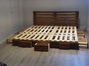 fabrication de lits en bois de palettes neuves sherbrooke qu bec image 1 living pinterest. Black Bedroom Furniture Sets. Home Design Ideas