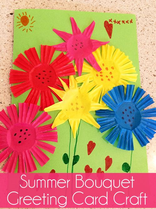 Kids birthday card craft ideas flowers craft – Birthday Cards Craft