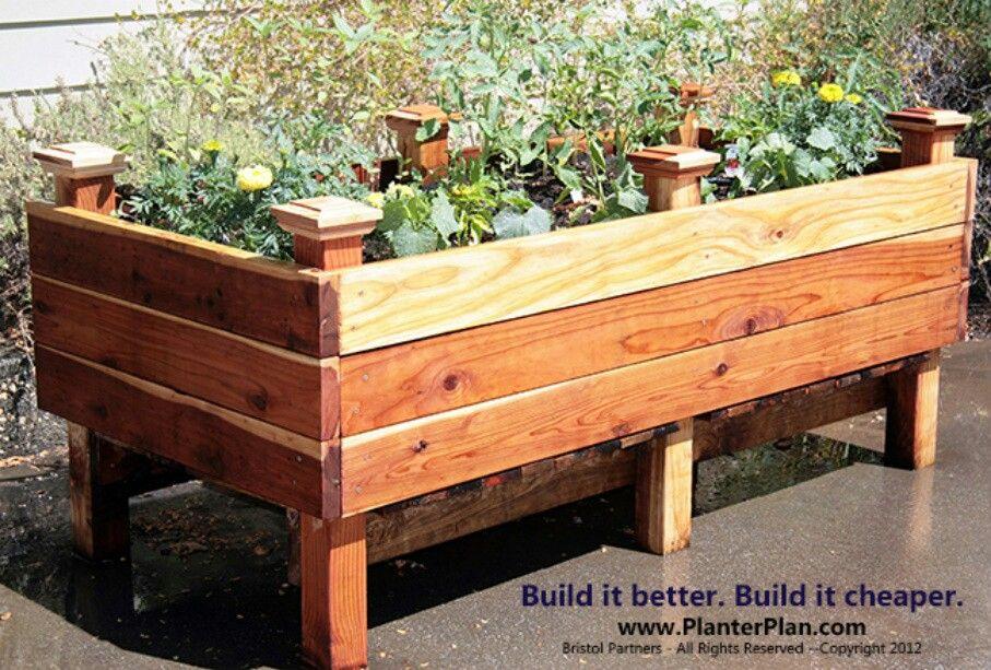 Raised planter box. DIY Container planting Pinterest
