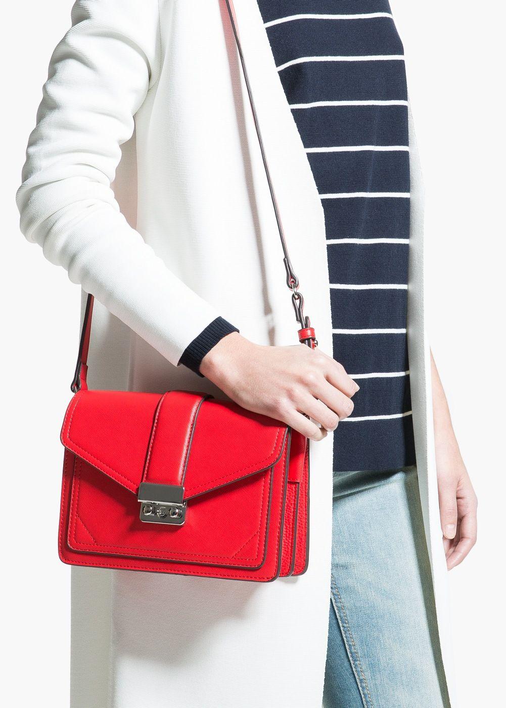 Saffiano-effect cross-body bag