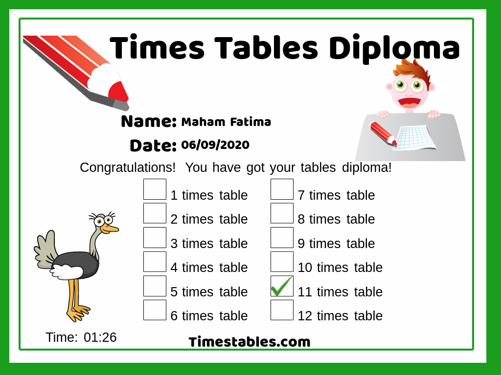 11 Times Table With Games At Timestables In