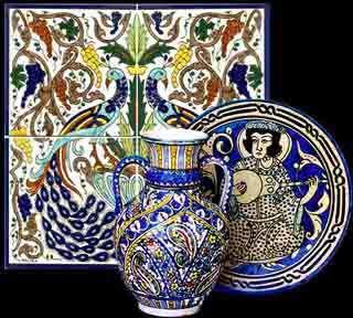 Decorative Tile Art Hand Painted Ceramic Tiles  Murals  Tile Art Designs