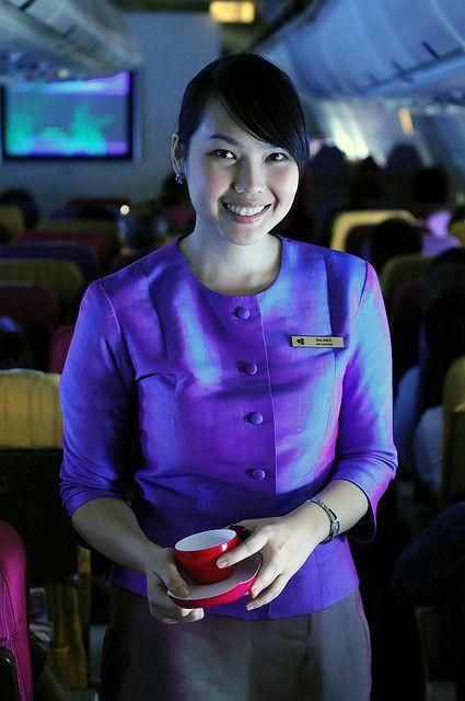 A Flight Attendant Flight Attendant Airline Cabin Crew Thai Airline