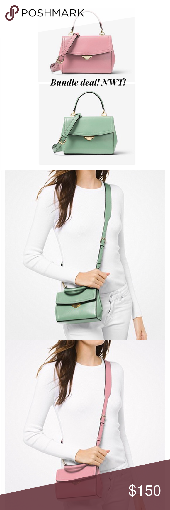 8508fa3e78e9dc Two Ava Extra Small Leather Crossbody Purses Currently $105 each online,  exclusively on michaelkors.