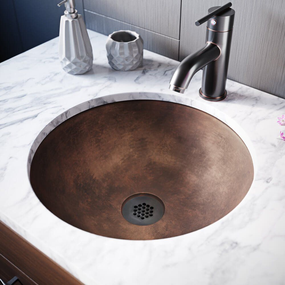 bronze bathroom sink