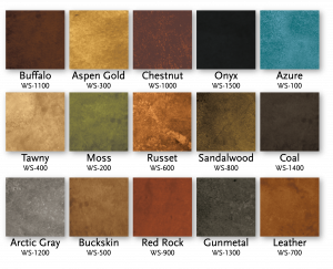 Living Earth Water Based Concrete Stain Color Chart