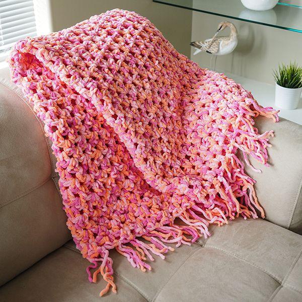 Quick n\' Cozy Crochet Afghan | Stricken häkeln, Handarbeiten und ...