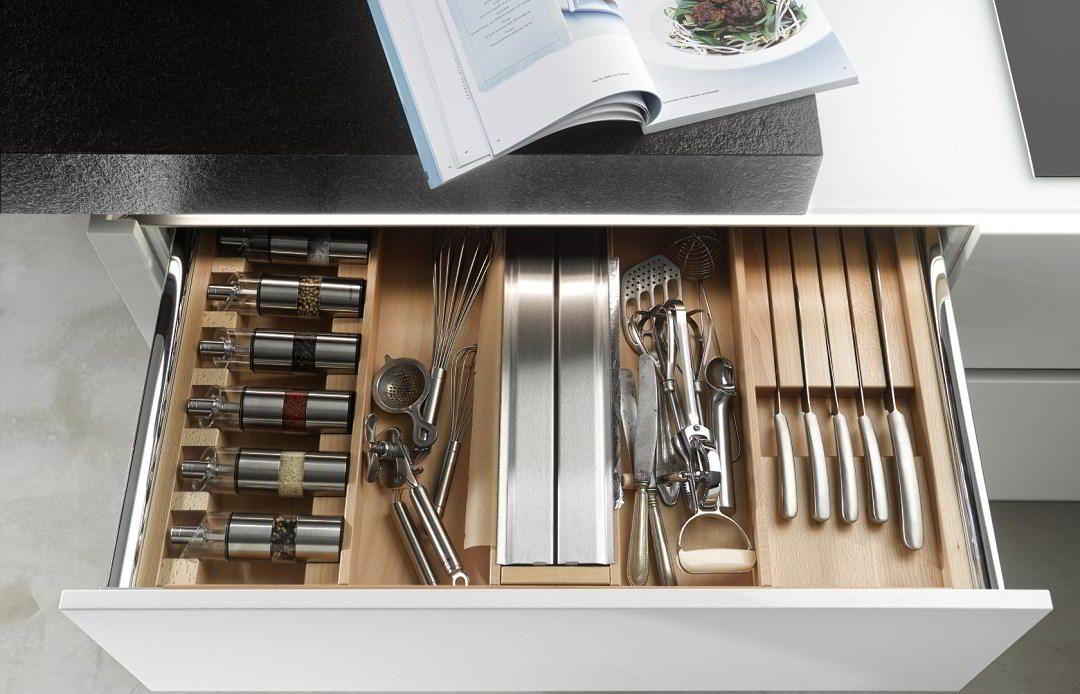 Drewniane wkłady na sztućce Drewno w kuchni Pinterest Kitchens