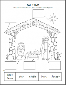 Nativity Worksheets for Kindergarten and First Grade | Worksheets ...