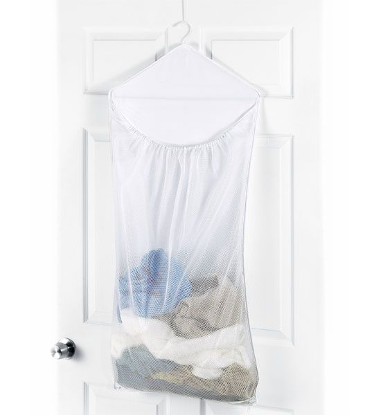 with the over the door laundry bag you can easily store your dirty