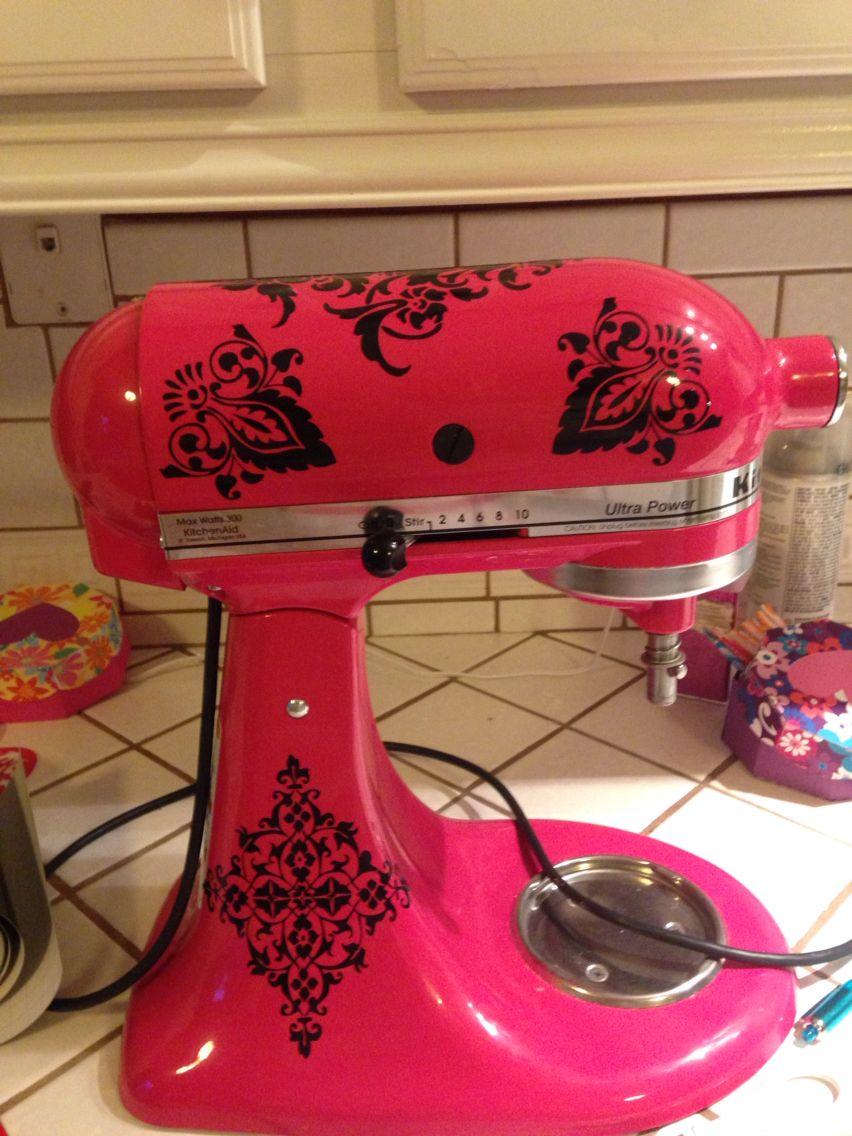 Decorated kitchenaid mixer decals kitchen aid mixer