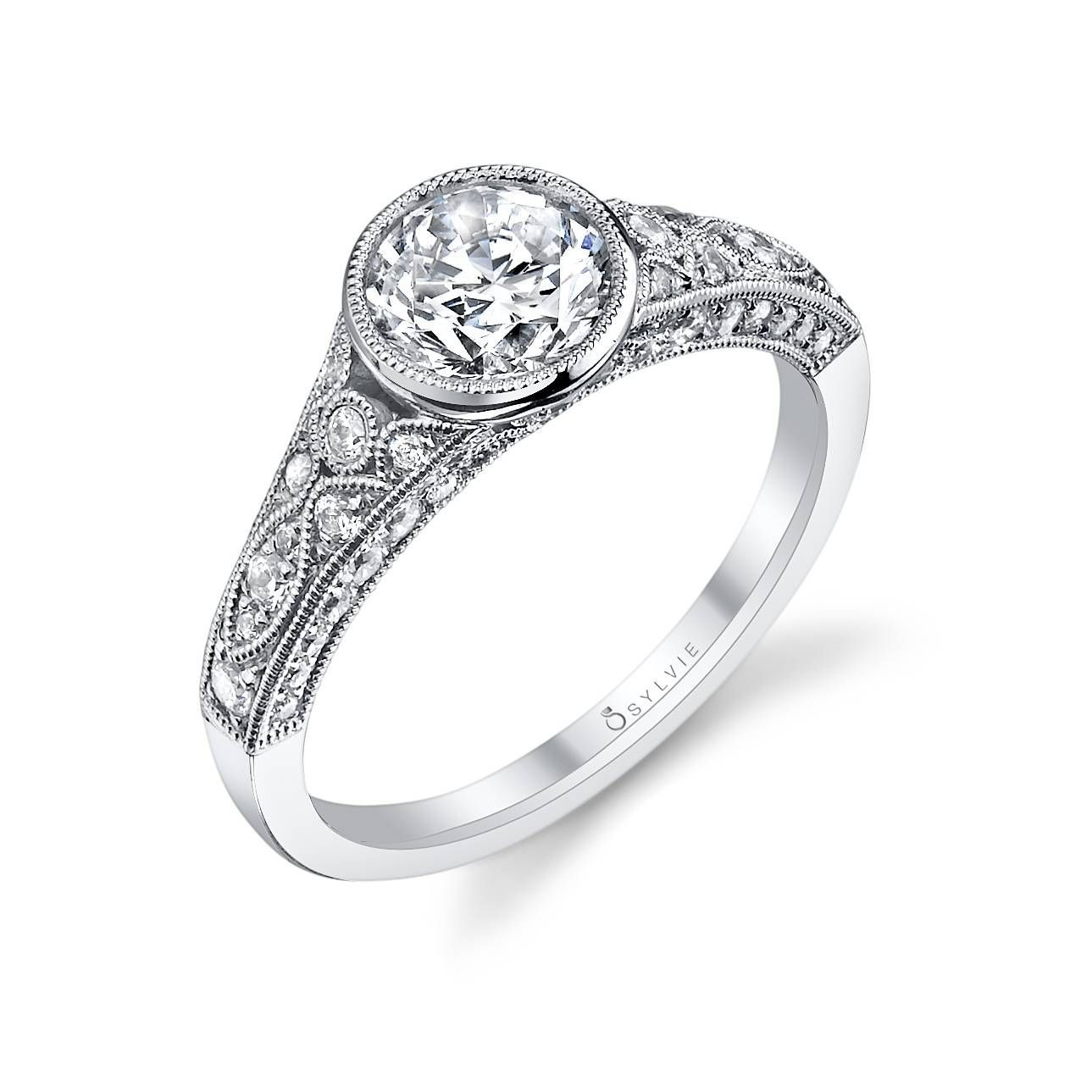 Barbara Vintage Bezel Set Engagement Ring Antique