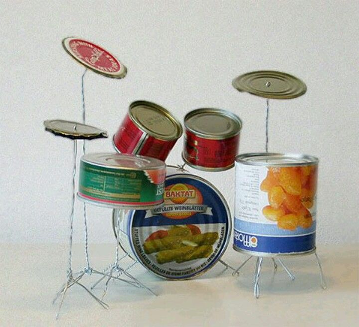 Neat Mini Drum Set Recycle Sculpture Making Musical Instruments Drum Kits