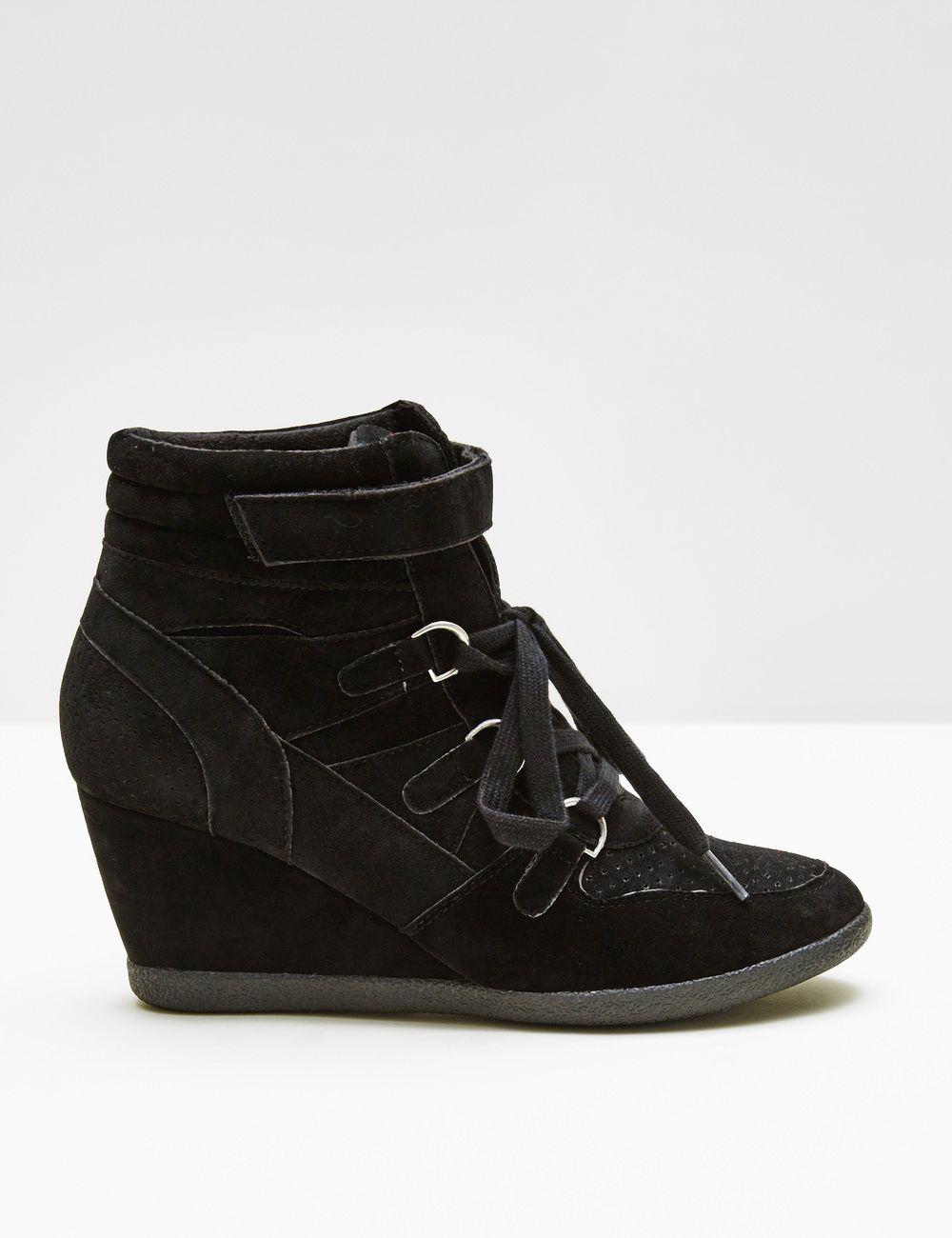 JennyferChaussure Sneakers Baskets • Femme Noires Compensées R4LAj5