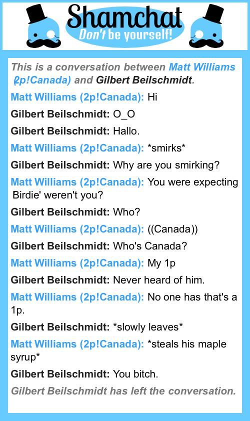 A conversation between Gilbert Beilschmidt and Matt Williams (2p!Canada)