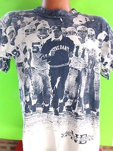 Vintage 80s notre dame irish lou holtz all over print
