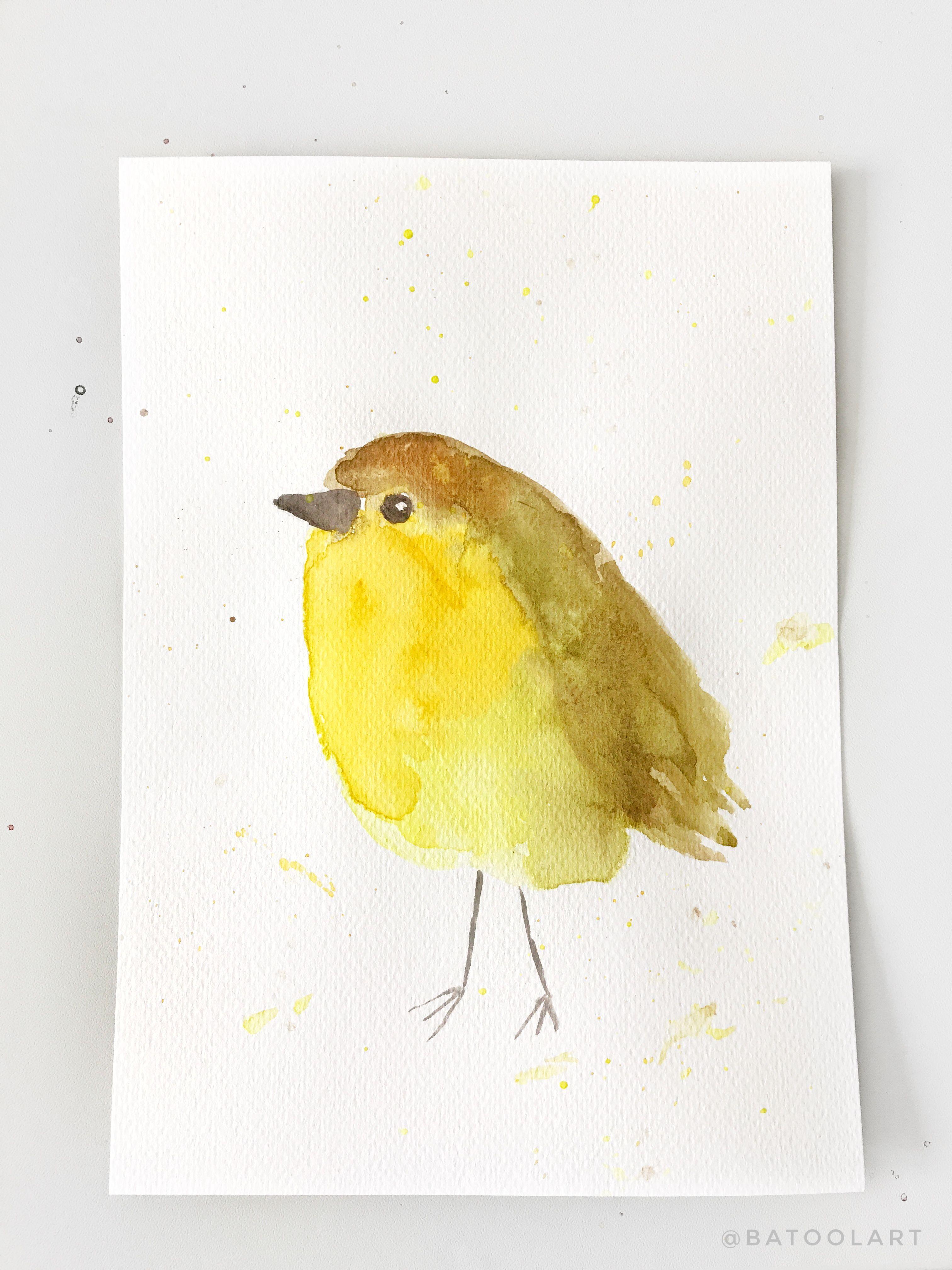Original Painting, Little Bird, Watercolor Painting, Nursery Decor ...