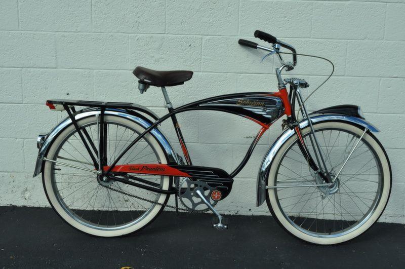 eacf32bba3e 1952 Schwinn Black Phantom. Stunning original condition. Typhoon Cord USA  tires. Fore brake Locking fork. Price: $SOLD*
