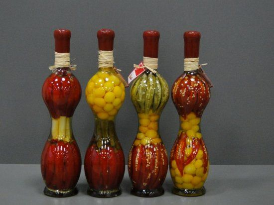 Decorative Bottle With Vegetables For The Kitchen Decor Bottles Decoration Kitchen Jars Kitchen Decor
