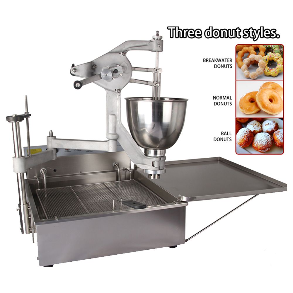 Marchef T102 Manual Operated Commercial Donut Fryer Machine Ball Donut Machine Affiliate Fryer Machine Donuts Donut Maker