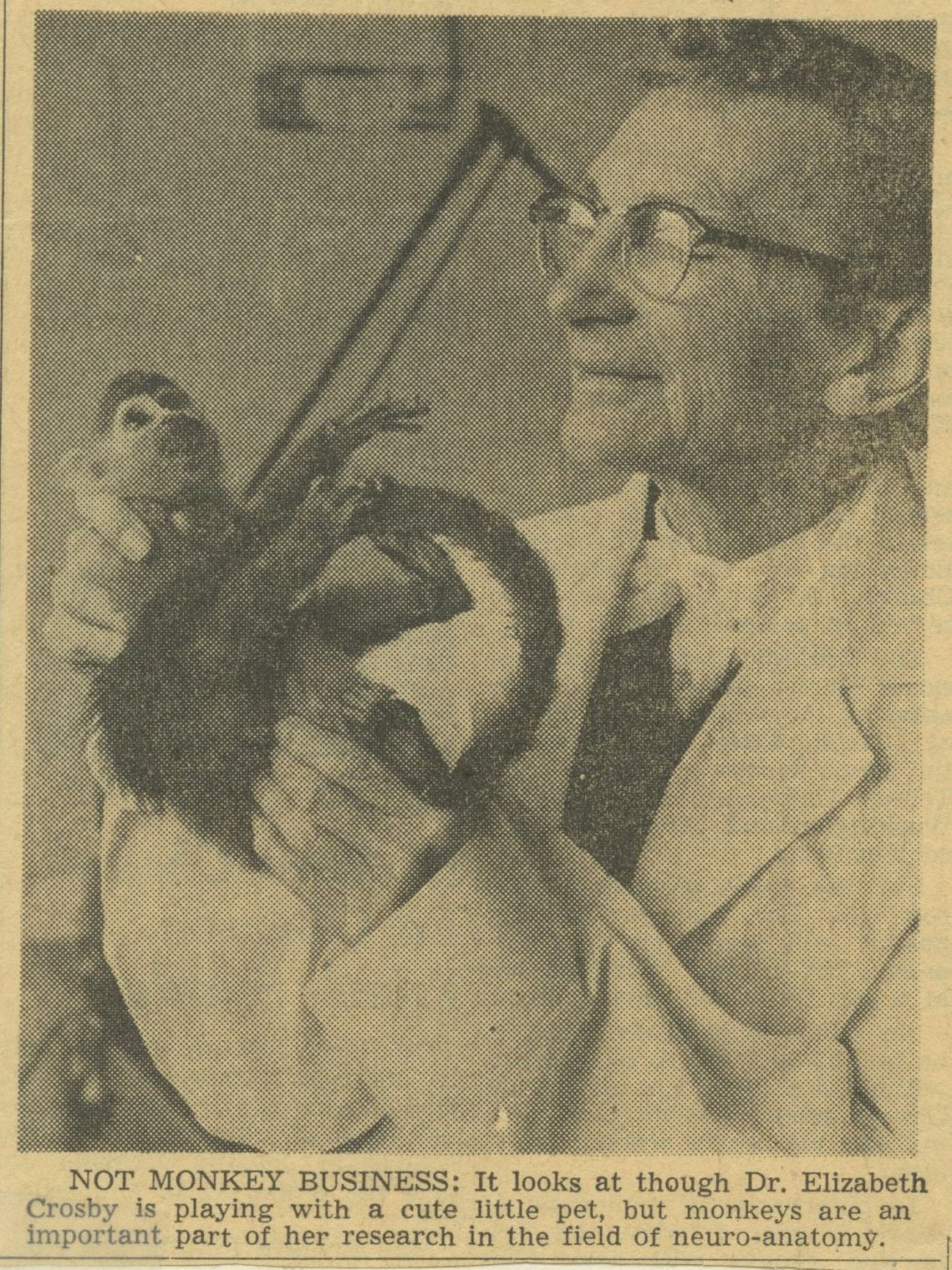 1950: Elizabeth Crosby was awarded the AAUW Achievement Award for ...
