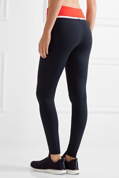 96cf2351ca715 Tory Sport - Color-block Stretch-tactel Leggings - Navy | Products ...