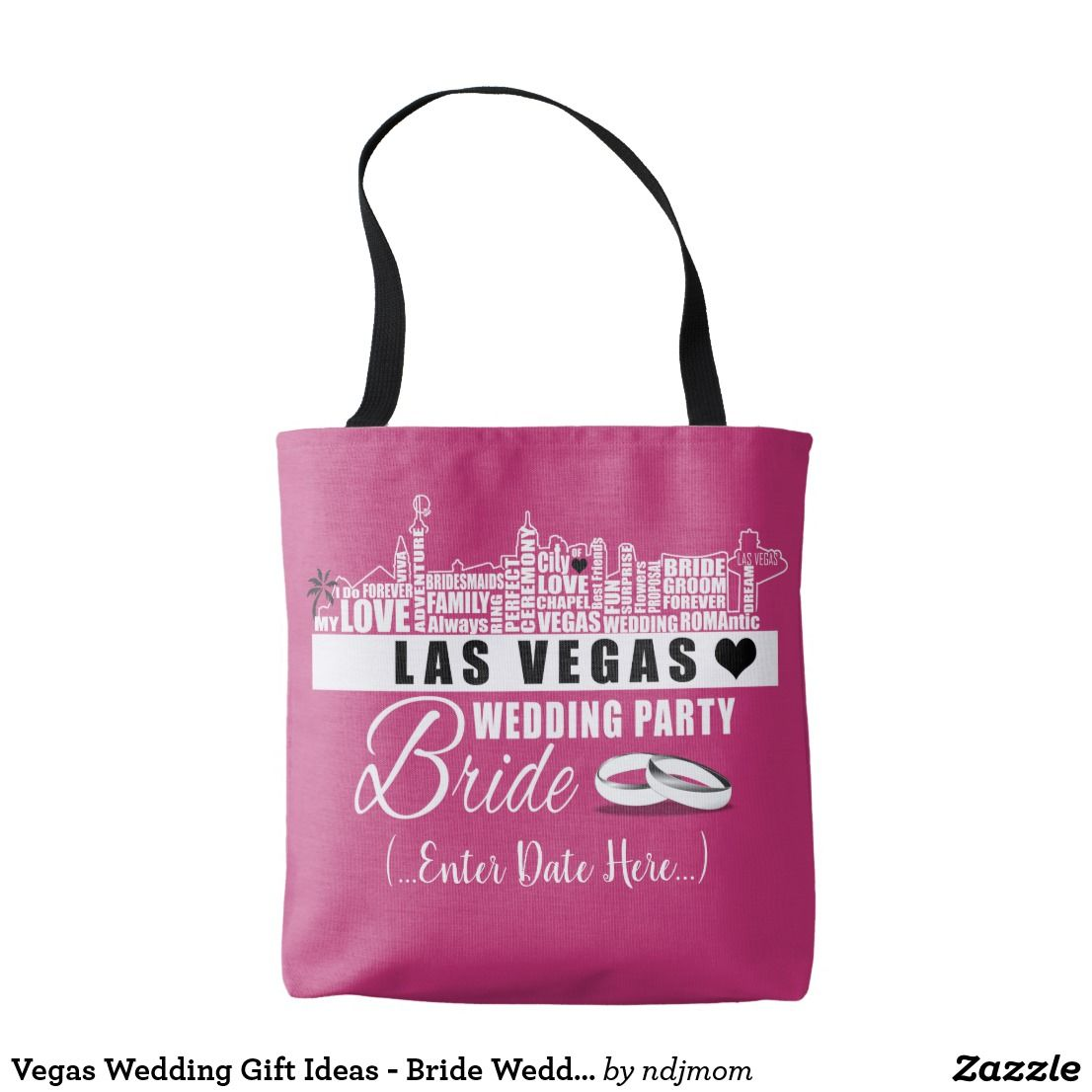 Vegas Wedding Gift Ideas - Bride Wedding Bag Take this bag with you ...