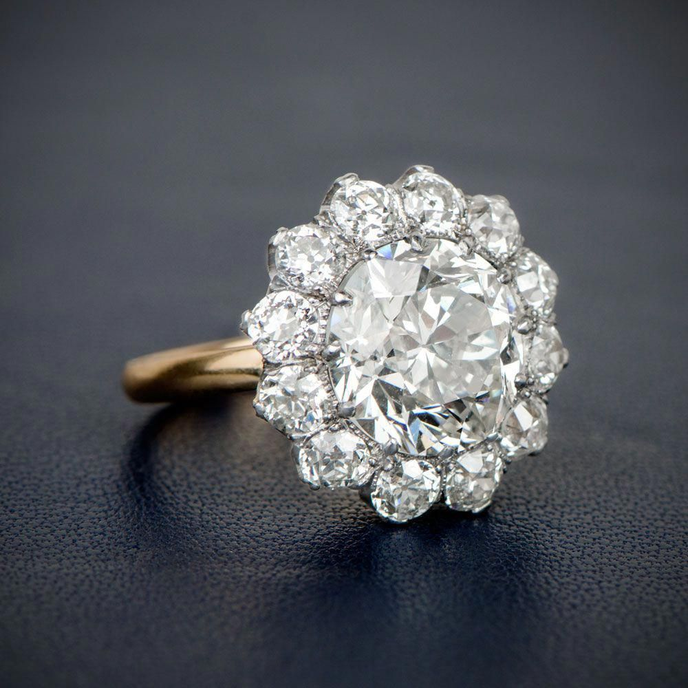 A Stunning And Rare Edwardian Era Inspired Cluster Engagement Ring