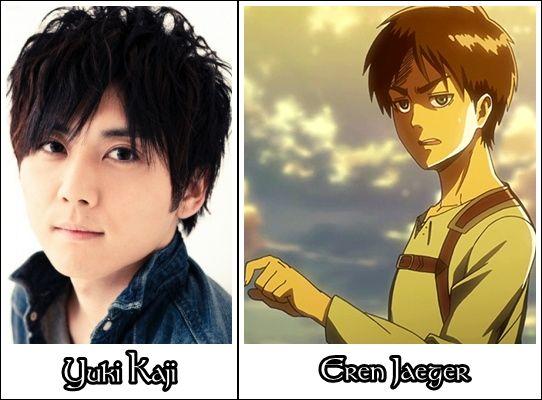 eren titan voice actor Yuki Kaji is the original voice actor of Eren Jaeger (Shingeki no